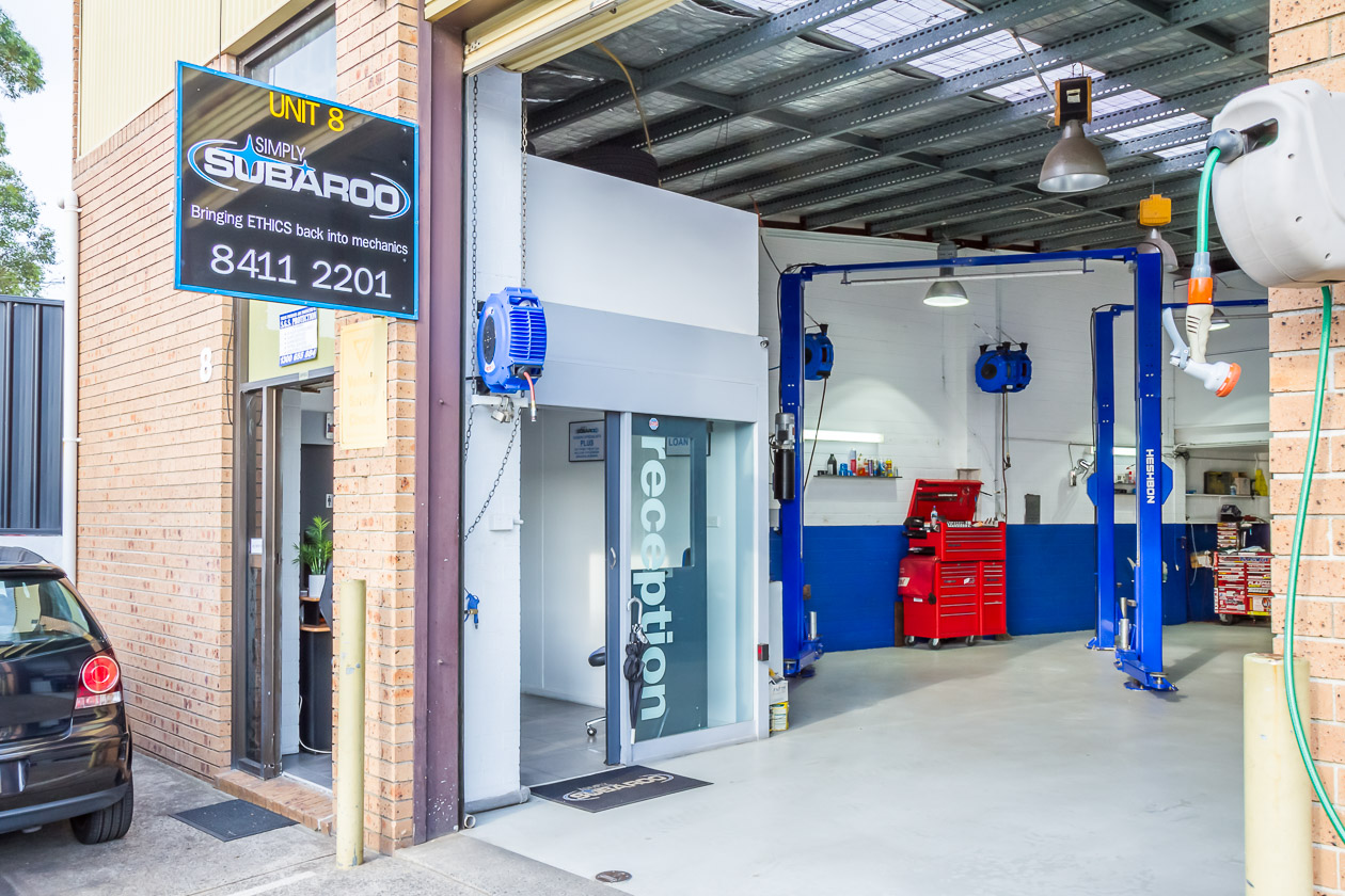 Simply Subaroo Workshop Entrance