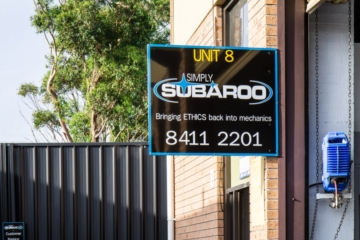 Simply Subaroo sign